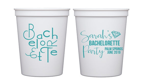 bachelorette party cups,Personalized plastic cups, Bachelorette stadium cups, bachelorette bash cups, Bachelorette favor, Bride tribe cups