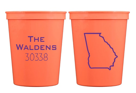 Zip code cups, Housewarming gift, Housewarming party cups, New homeowner gift idea, Personalized plastic cup, Relator closing gift