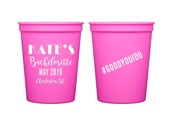 Bachelorette party cups, bachelorette weekend personalized plastic cup, Bride tribe cups, Wedding party cups, bachelorette party favor