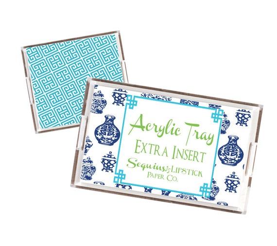 acrylic tray extra insert, lycite tray insert, acrylic catchall insert, monogrammed tray insert, insert only