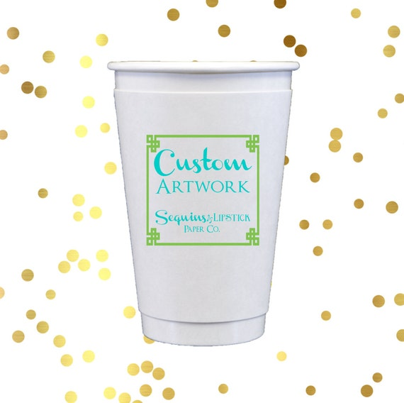 Personalized paper cups, custom coffee cups, hot chocolate cups, Wedding cups, reception favors, reception cups, personalized cups