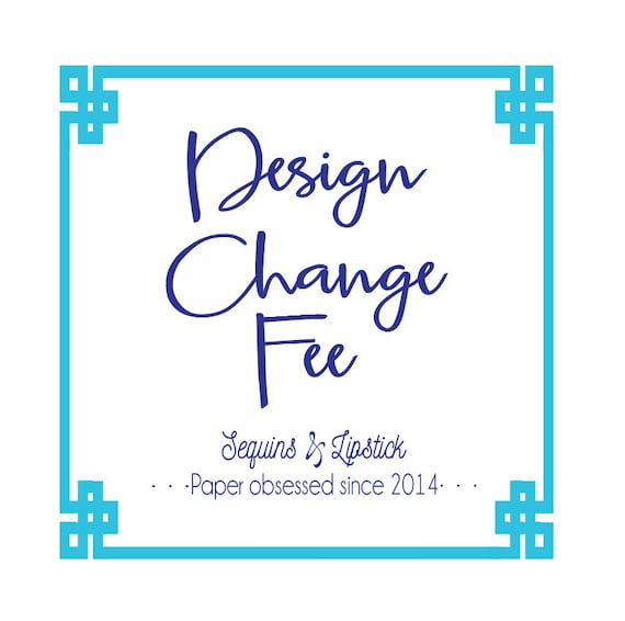 Design change fee