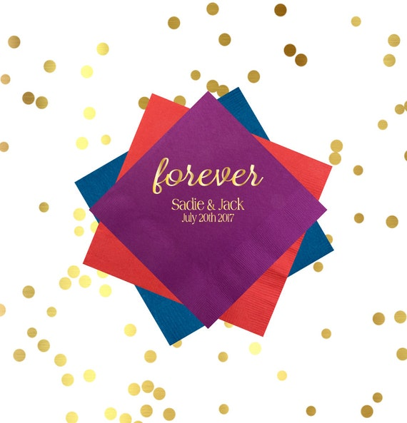 Personalized reception napkins