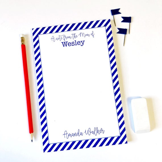 Mom Notepad To Do List Mom Notepad Office Supplies School Supplies Cute Notepad Desk Pad Mom Stationery Checklist Note Pad Striped notepad