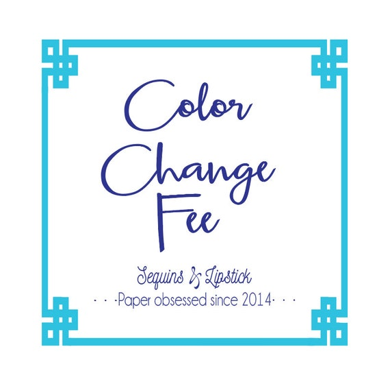 Color change fee, Split color fee
