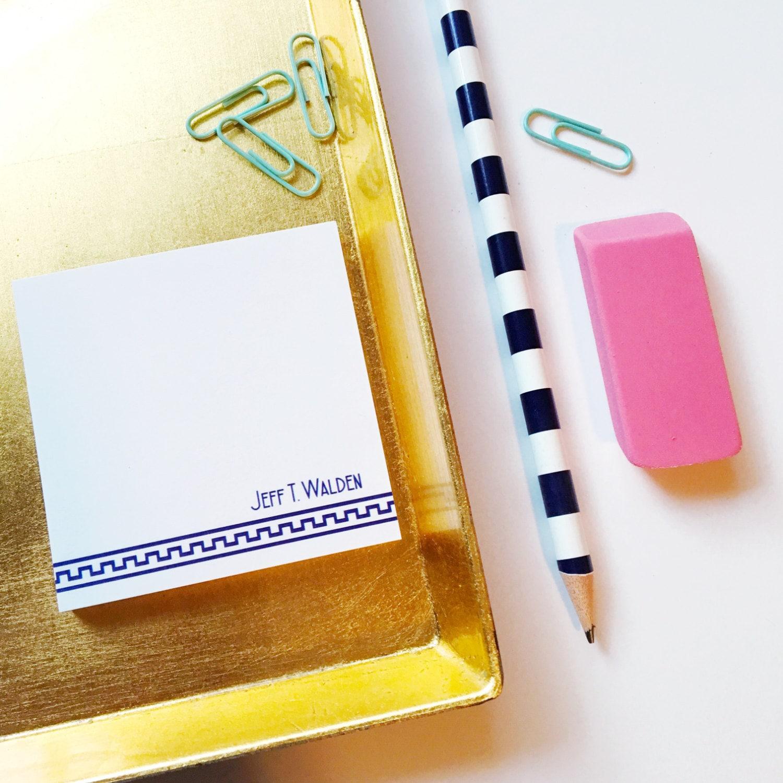 Personalized Sticky Notes Mens Stationery Male Stationery