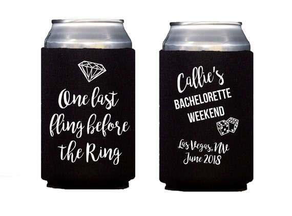 Last fling before the ring, final fling before the ring, bachelorette can cooler, bachelorette hugger, las vegas bachelorette bash