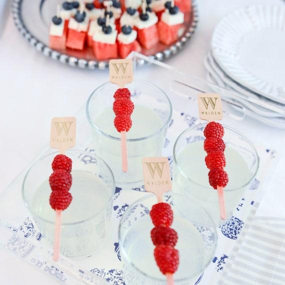 Monogrammed drink stirrers, personalized drink stirrer, monogrammed stirrer stick, wooden stirrers, drink stirrer wedding favor