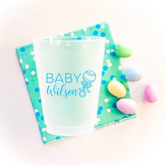 Personalized baby shower cups, Welcome home baby gift, Personalized baby shower favor, shatterproof cups, Frosted party cups, custom cups