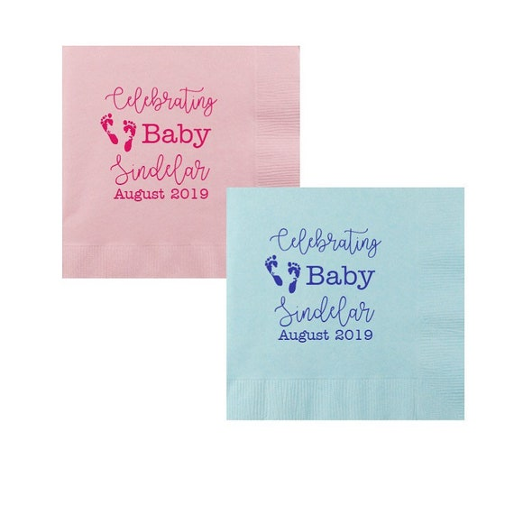 baby shower napkins, gender neutral baby shower, baby sprinkle, celebrating baby, welcome baby, personalized napkins, party napkins