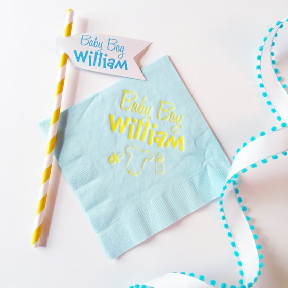 Baby Shower Napkins - shower Napkins -  Baby Shower -  Paper Napkins