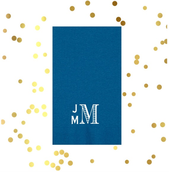 Personalized guest towels, monogrammed guest towel, reception guest towels, wedding napkins