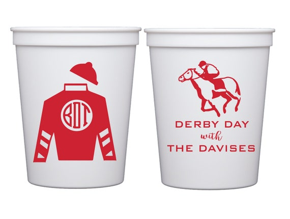 Kentucky derby cups, Derby day cups, Talk derby to me cups, Personalized plastic cups, Personalized stadium cups, Custom derby cups