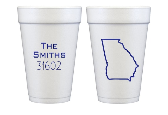 State outline cups, Home sweet home cups, Zip code cups, Housewarming cup, Housewarming party cups, Housewarming favor, Housewarming gift