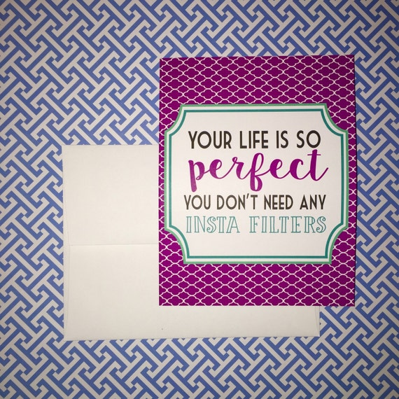 SALE Funny card, friendship card, best friend card, silly greeting card, instagram quote, just for fun greeting card, encouraging snail mail