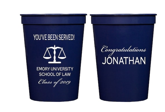 Law school graduation, personalized  plastic cups, Personalized stadium cups, graduation party favors, party cups, personalized tumbler 2019