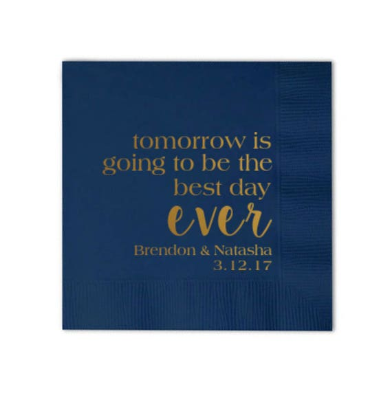 best day ever napkins wedding napkins personalized napkins custom napkins reception napkins quote napkins hashtag napkins cocktail napkins