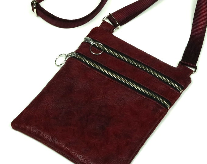 Custom, Design Your Own, Small Crossbody Bag, 2 Zippered Pockets, Adjustable Strap, Leather, Canvas, Cork, Vinyl, Denim, MulberryHillDesign