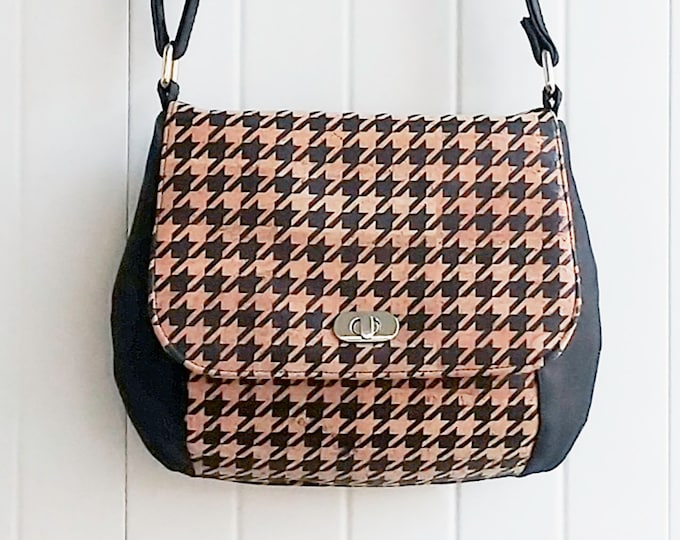 Saddle Bag, Front Flap, Shoulder Bag, Crossbody Bag, Adjustable Strap, Leather, Vinyl, Cork, Cotton, Canvas, Denim