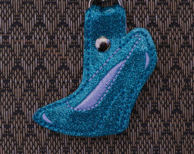 Glass Slipper, High Heel, Bag Bling, Bag Tags, Key Fobs, Snap Tabs, Bag Accessories, Backpack Bling, Ready to Ship