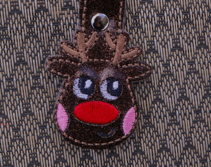 Reindeer, Keychain, Bag Bling, Bag Tags, Key Fobs, Snap Tabs, Bag Accessories, Backpack Bling, Ready to Ship