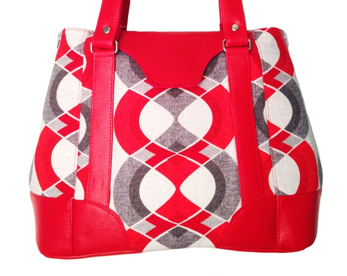 Custom Tote Style Bag, Handbag, Shoulder Bag, Crossbody, Purse in your choice of Leather, Cork, Vinyl, Canvas, Cotton