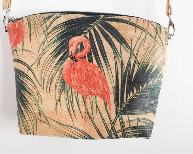 Crossbody Bag, Lulu Crossbody, Cork Crossbody, Tropical, Floral, Flamingo, Rainbow, Giraffe, Cheetah, Ready to Ship, Mulberry Hill Design