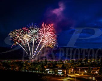 Gunnison Colorado Fireworks on the 4th photograph