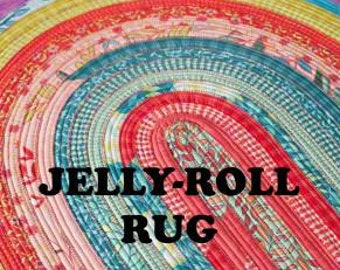 NEW! - Jelly Roll Rug Pattern - Rug Paper Pattern using Jelly Roll - Jelly Roll Friendly Pattern - Paper Pattern - Sewing Pattern