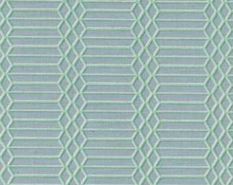 NEW!! - Cotton Fabric by the Yard - Fat Quarter Bundle - Quilt Fabric Bundle - Cotton + Steel - C5173-003 Panorama - Dandy Bars - Aqua