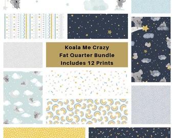 Koala Me Crazy Fat Quarter Bundle - Includes 12 Prints
