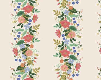 PREORDER - Fabric by the Yard - Rifle Paper Co - Fat Quarter Bundle - Modern Quilt Fabric - Cotton+Steel - English Garden - Vines in Cream