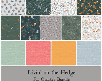 PREORDER - Livin' on the Hedge Fat Quarter Bundle - Includes 13 Prints - Expected Oct 2021