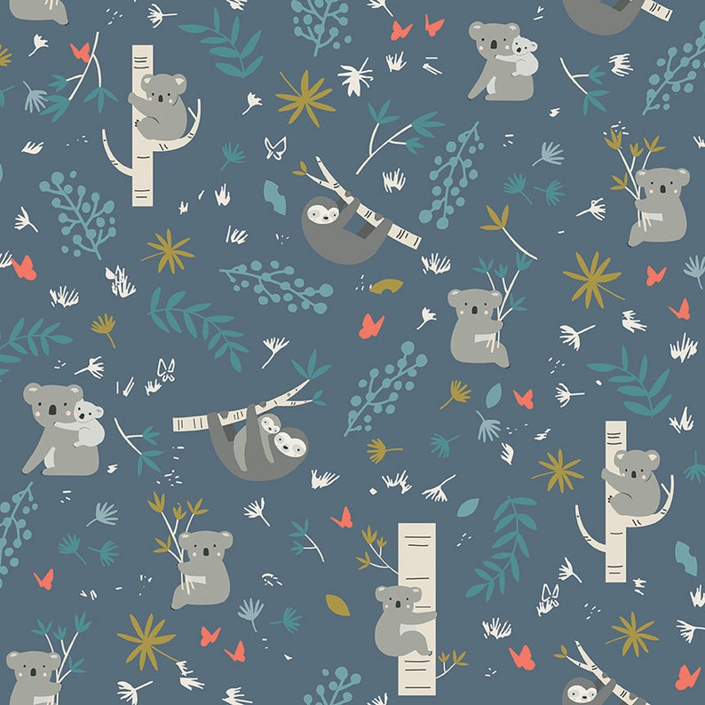 Quilt Kit Joey Baby Quilt Kit with Joey from Riley Blake BabyToddler Quilt Kit and Pattern measures 40 x 50 in Navy Option