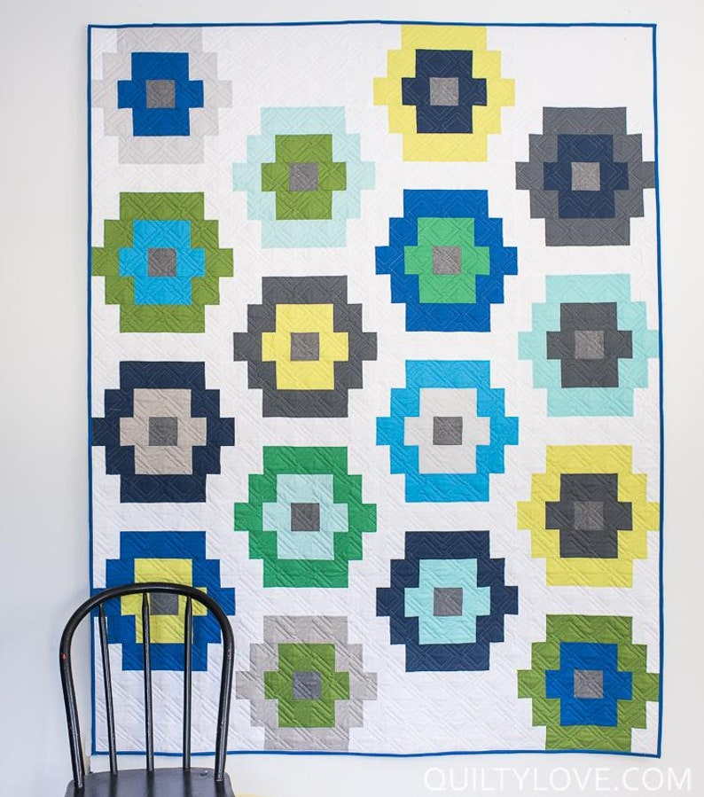 Twin Throw Baby Quilty Beads Quilt Paper Pattern by Quilty Love Queen Quilt Pattern