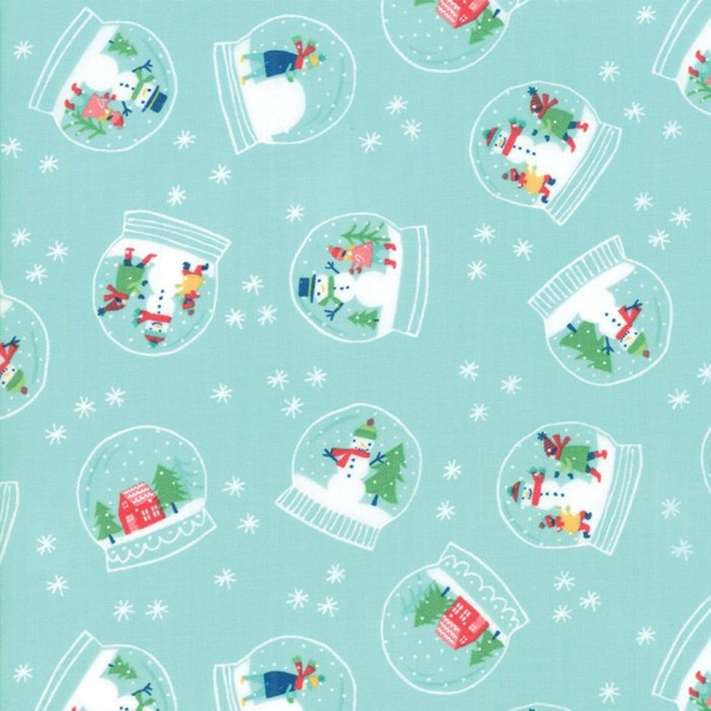 FAT QUARTER FABRIC  HOORAY FOR SNOW  SNOWMAN  CHRISTMAS HOLIDAY 100/% COTTON  FQ