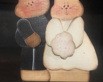 Cat wedding couple.