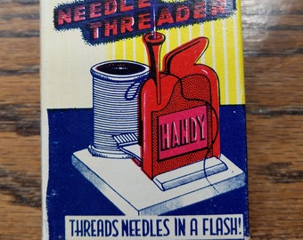 Vintage Handy automatic needle threader, needle threader, handy needle threader, sewing accessory