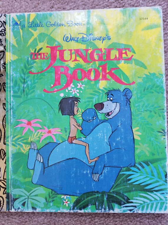 Histoire Animee 1967 De Walt Disney Livre Jungle Livre Un Petit Livre D Or De Disney Le Livre De La Jungle Petit Livre D Or