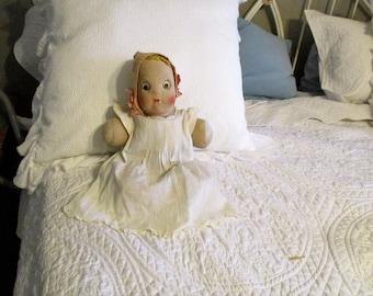 Vintage Circa 1930 Cloth Doll OOAK