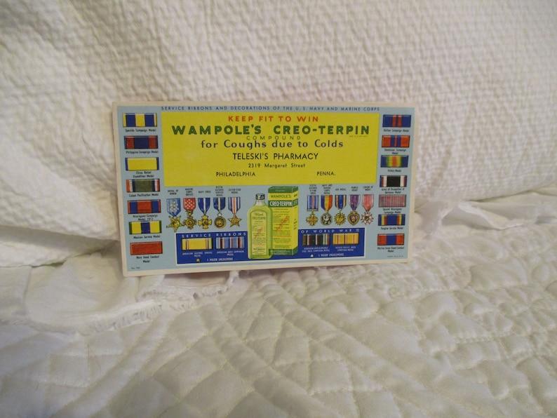 Antique Advertising -Ink Blotter- Medicine- Militaria- Navy -Marines