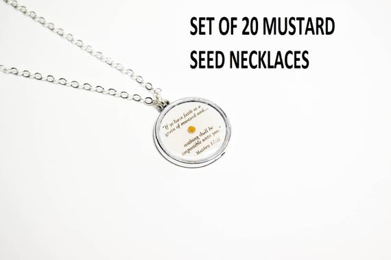 Wholesale Mustard Seed Necklace Faith Necklace Wholesale