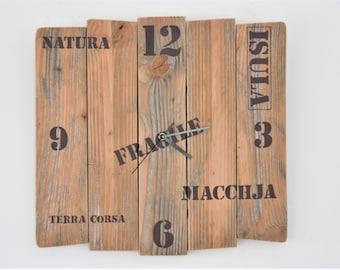 "Wall clock wood Nature & Co ""Isula"""
