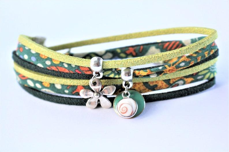 multi-row lime and green Bracelet lucky eye St Lucia