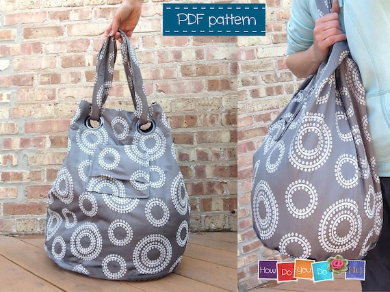 Beach Bag Sewing Pattern Instant Download PDF Tote Bag | Etsy