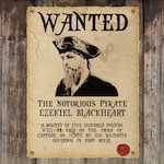 Personalised Pirate Wanted Poster / Custom Steampunk Wanted Poster PRINTABLE