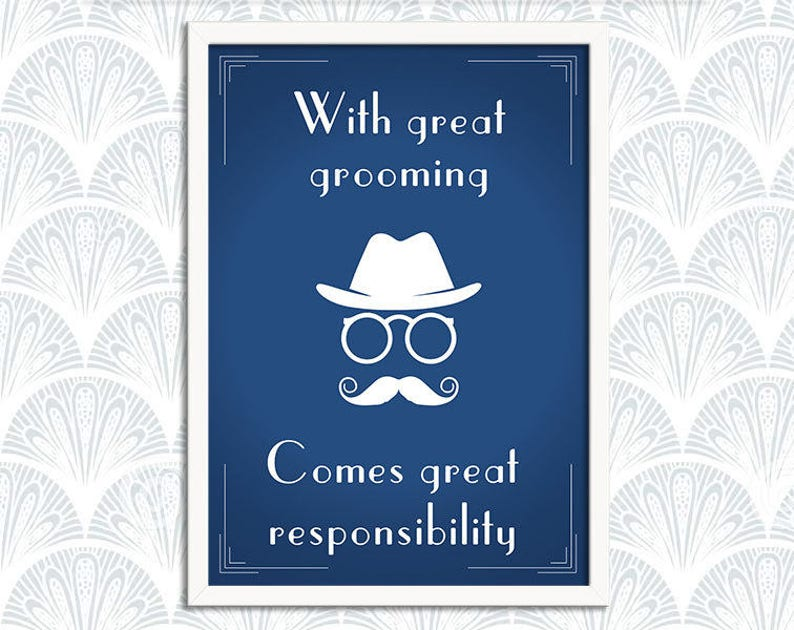 With Great Grooming  Steampunk Chap Art Print Poster  image 0