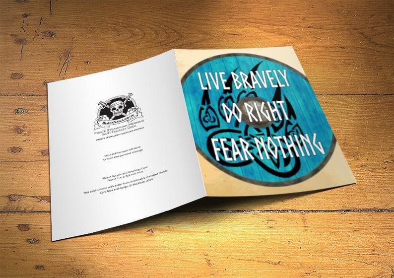 Viking Greetings Card Live Bravely Home Decor Inspirational image 0