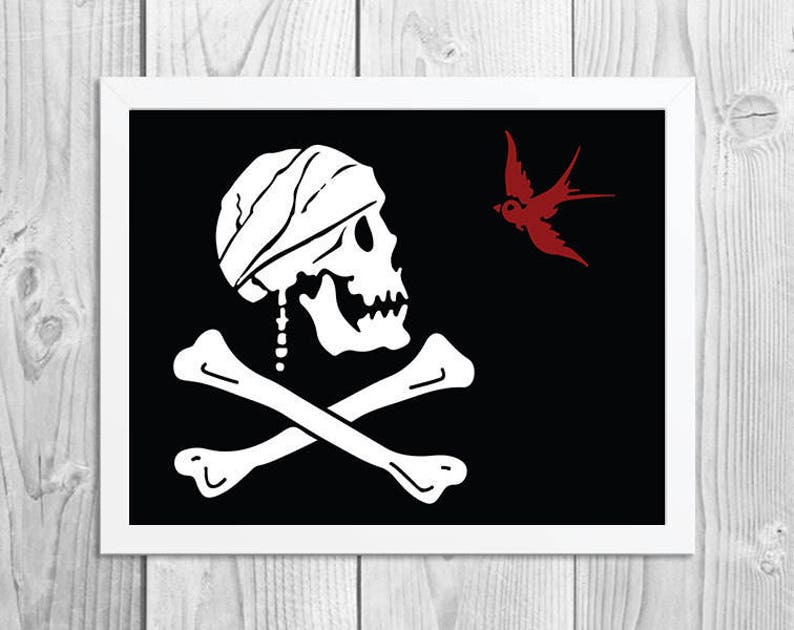 SALE  Captain Jack Sparrow Pirate Flag  Alternative Pirate image 0