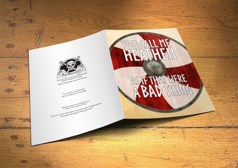 Viking Greetings Card Heathen Home Decor Inspirational image 0